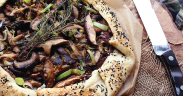 Mushroom, Leek and Goat Cheese Galette - marquee magazine exclusive recipes by irene matys