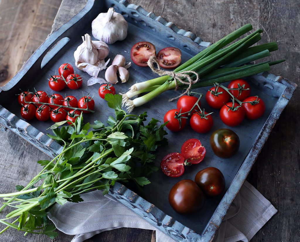ingredients for bbq seafood skillet saganaki - marquee magazine exclusive recipes by irene matys