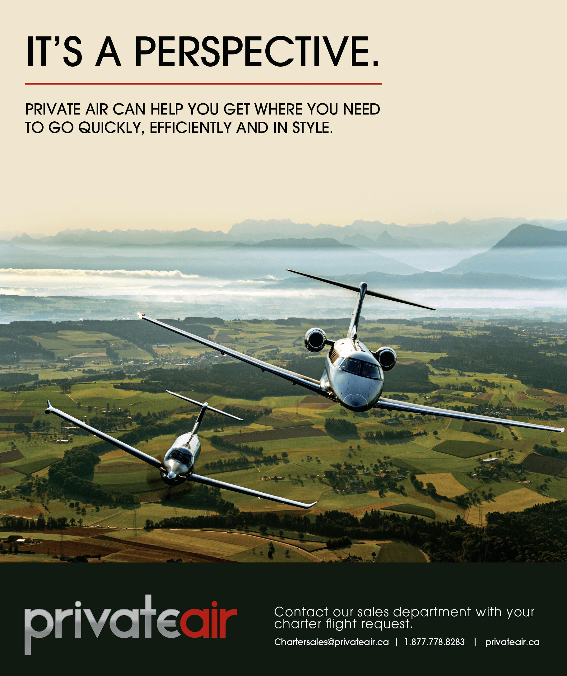 Private Air - Advertising Partner - MarQuee Magazine