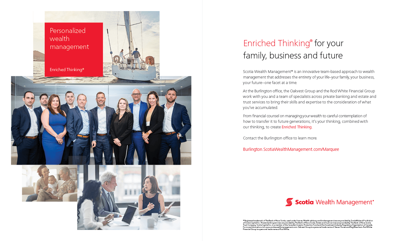 Scotia Wealth Management MarQuee Magazine Fall 2019