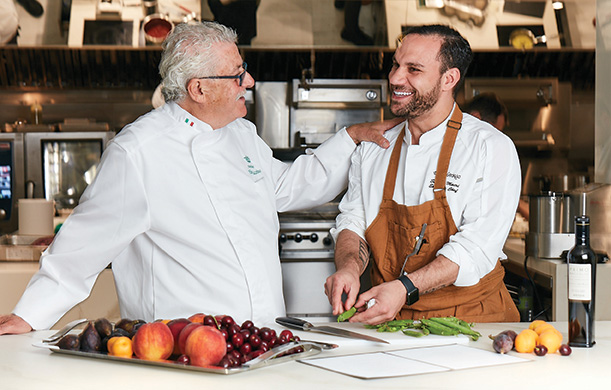 (Left to Right) Michelin Chef, Alfonso Iaccarino with Executive Chef, Saverio Macri