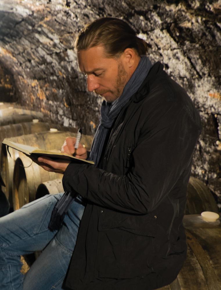Note taking in a Tokaj cellar
