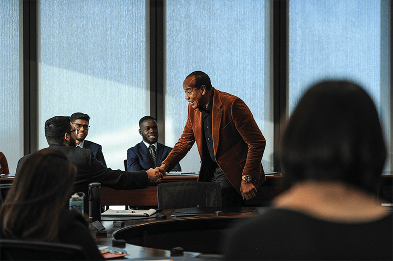 Michael Lee-Chin mentoring MBA students from Goodman School of Business at Brock University