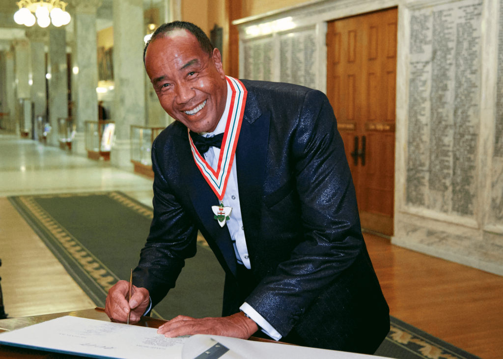Lee-Chin at the 2017 ceremony appointing him to the Order of Ontario