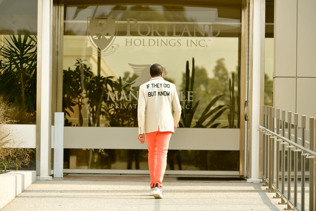 Michael Lee-Chin in front of Portland Holdings Inc. for MarQuee Magazine Winter 2020 Issue - Photographed by Celebrity George Pimentel