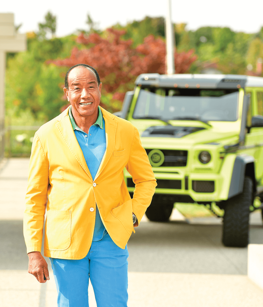 Michael Lee-Chin in front of Portland Holdings and G-WagonInc. for MarQuee Magazine Winter 2020 Issue - Photographed by Celebrity George Pimentel