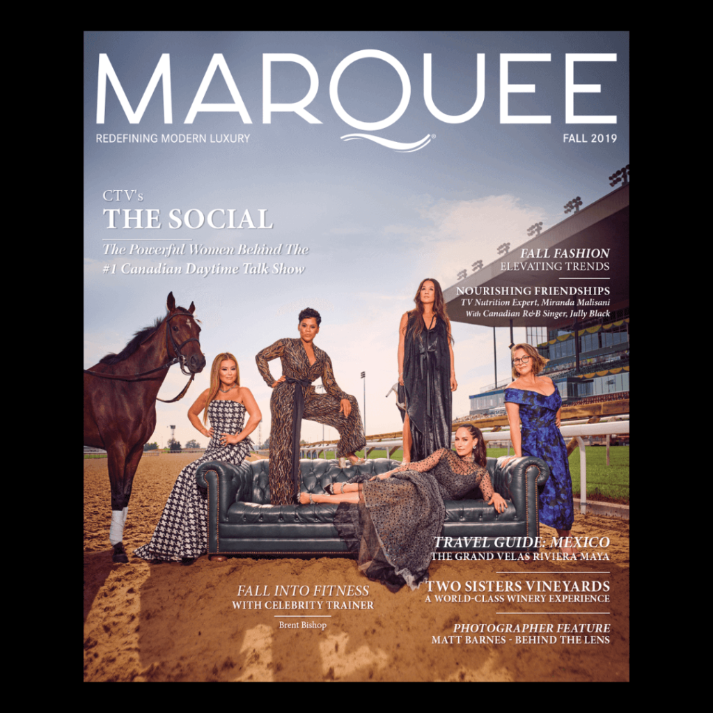 MarQuee Magazine past cover - CTV's The Social