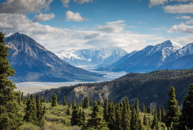 Kluane Lake in Yukon, Canada